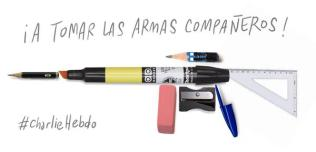 "Chilean political cartoonist Francisco J. Olea: ""To arms, companions!"""