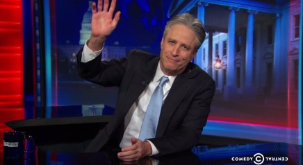 Video: Watch Jon Stewart's emotional announcement on departing from The Daily Show:فيديو
