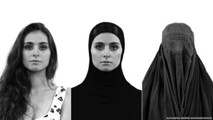 شاهد وجوه الحرية: معرض يبحث حرية المرأة في لبس الحجاب منعدمه