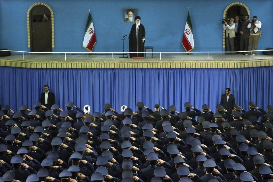 iran supreme leader ayataollah ali khamenei tehran file photo air force commanders