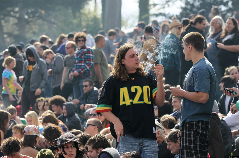 Enthusiasts Gather For Mass Pot-Smoking Celebration