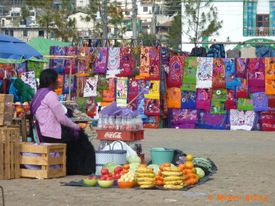Woman selling coca cola