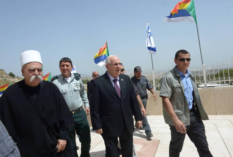 الرئيس الإسرائيلي يحضر أحد المناسبات الدينية لطائفة الدروز في إسرائيل