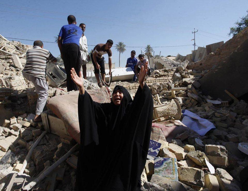 Iraq Explosion Rubble