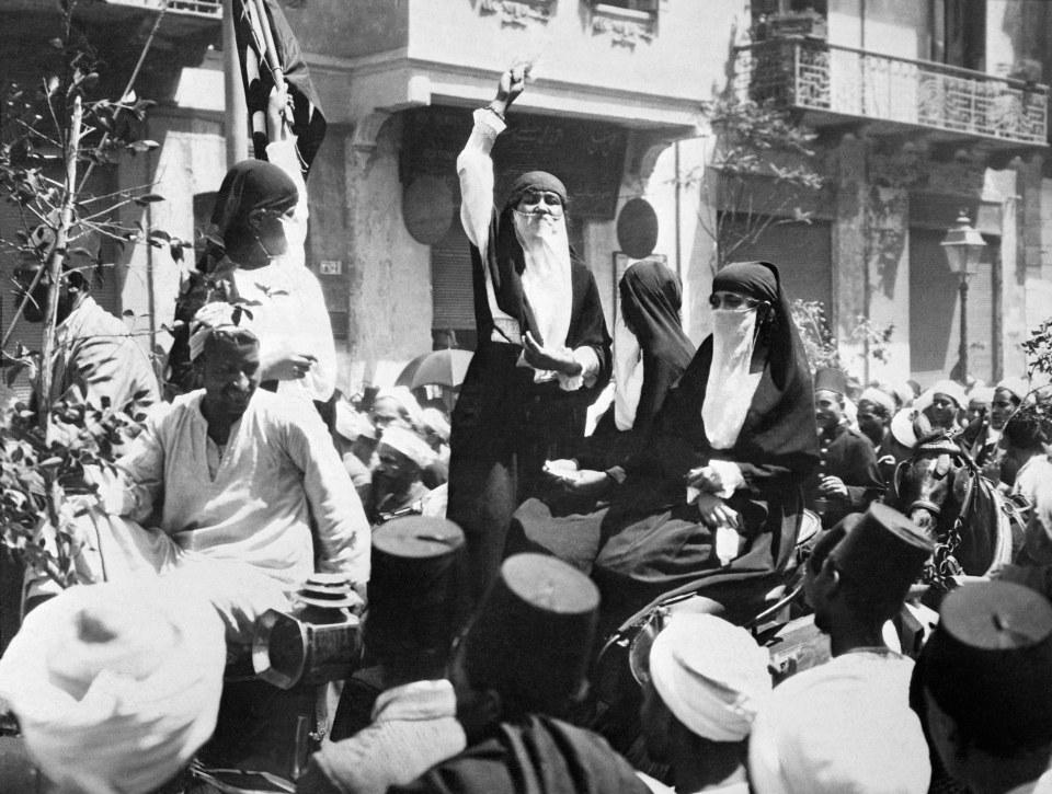 Egyptian Women Speaking on Patriotism in Public Square