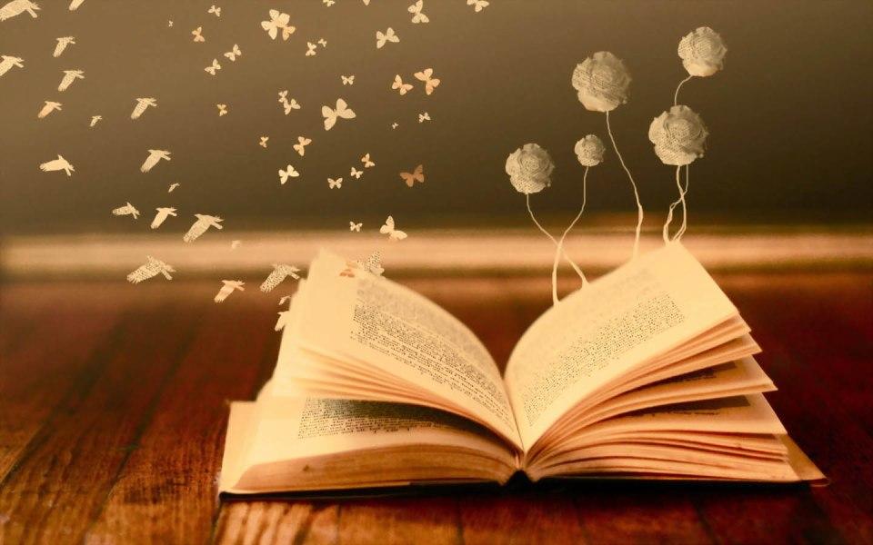 Book Butterrflies Wide Desktop Background