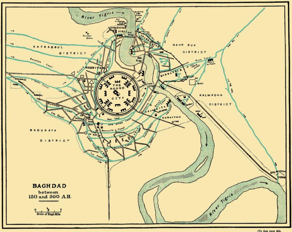 old baghdad map