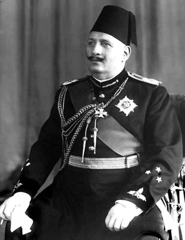 König Fuad von Aegypten! Porträt des aegyptischen Königs Fuad.