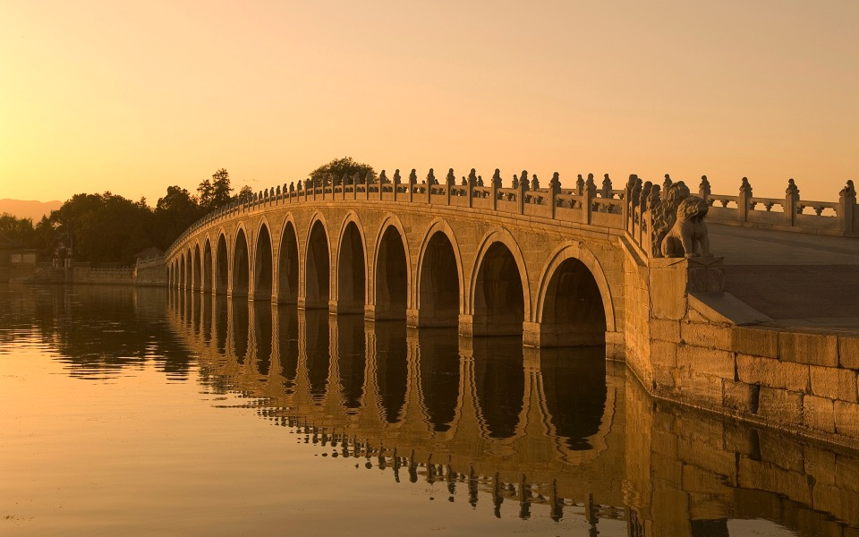 Seventeen Arch Bridge on Kunming Lake in Beijing