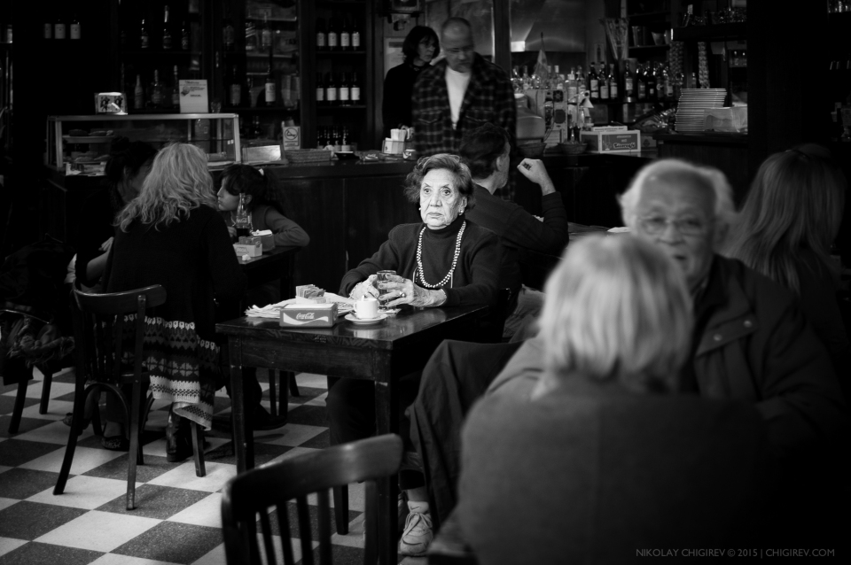 Old Lady in the Caffe