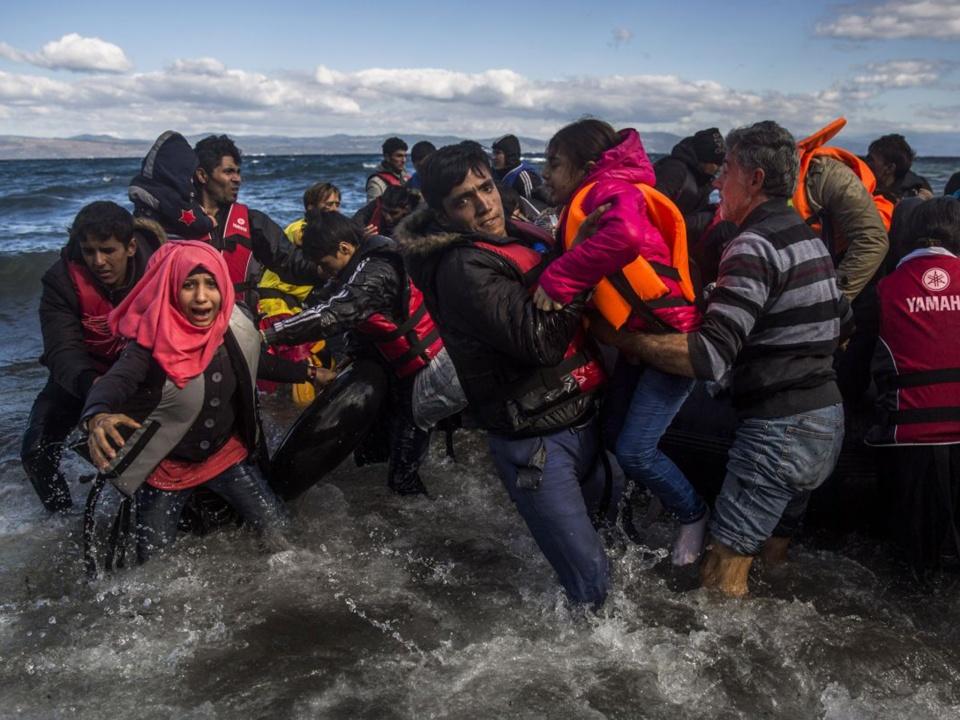 Refugees sea scare