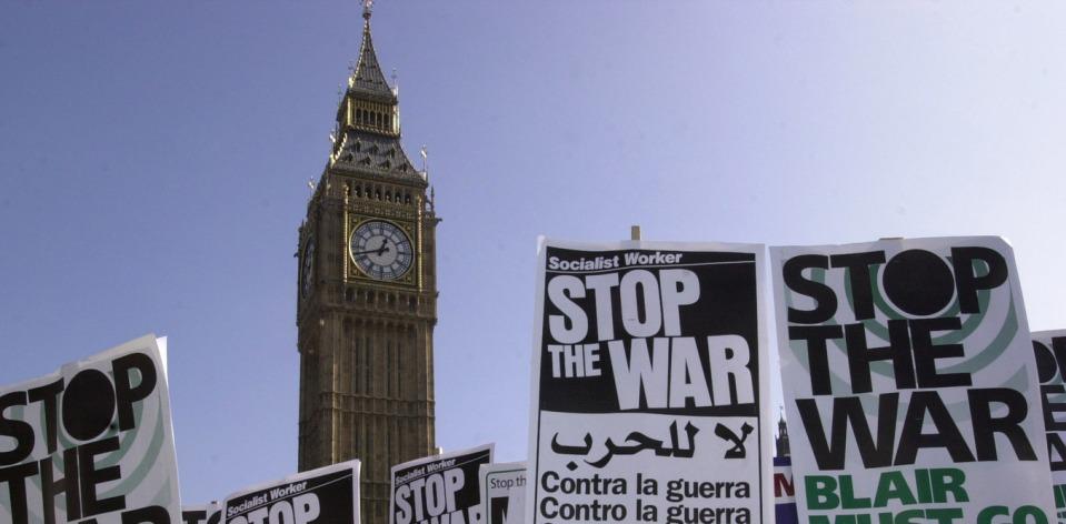 Iraq war protest Big Ben